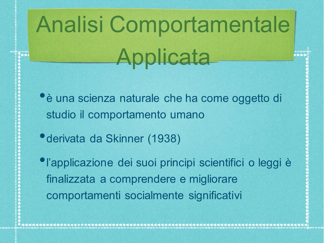 Analisi Comportamentale Applicata