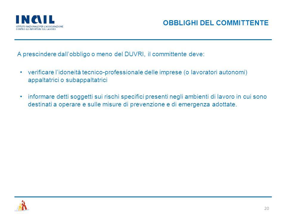 OBBLIGHI DEL COMMITTENTE