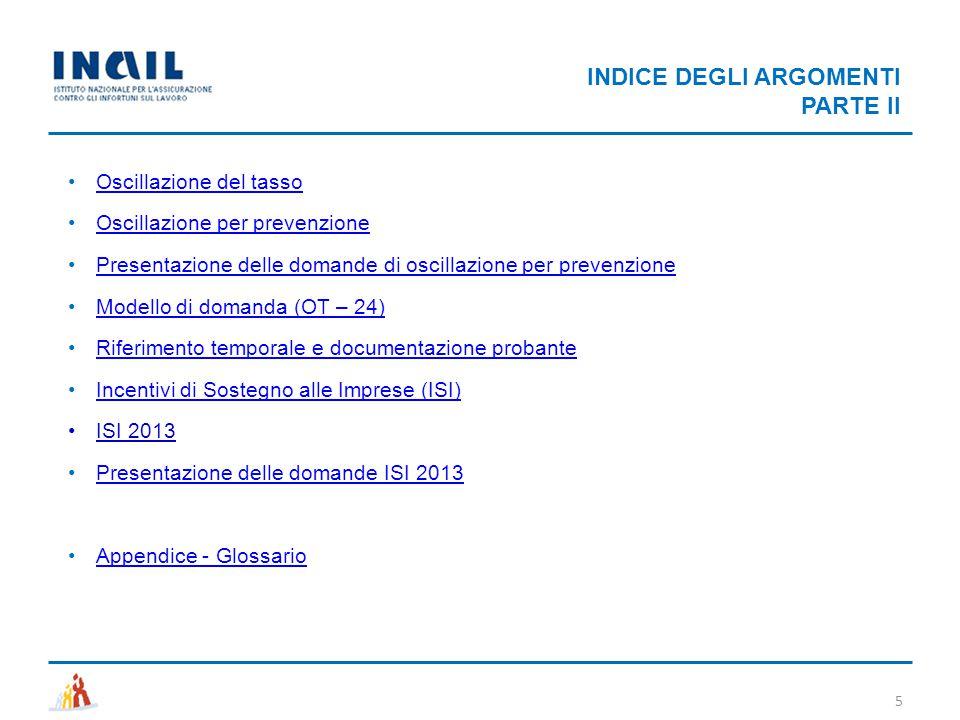 INDICE DEGLI ARGOMENTI PARTE II