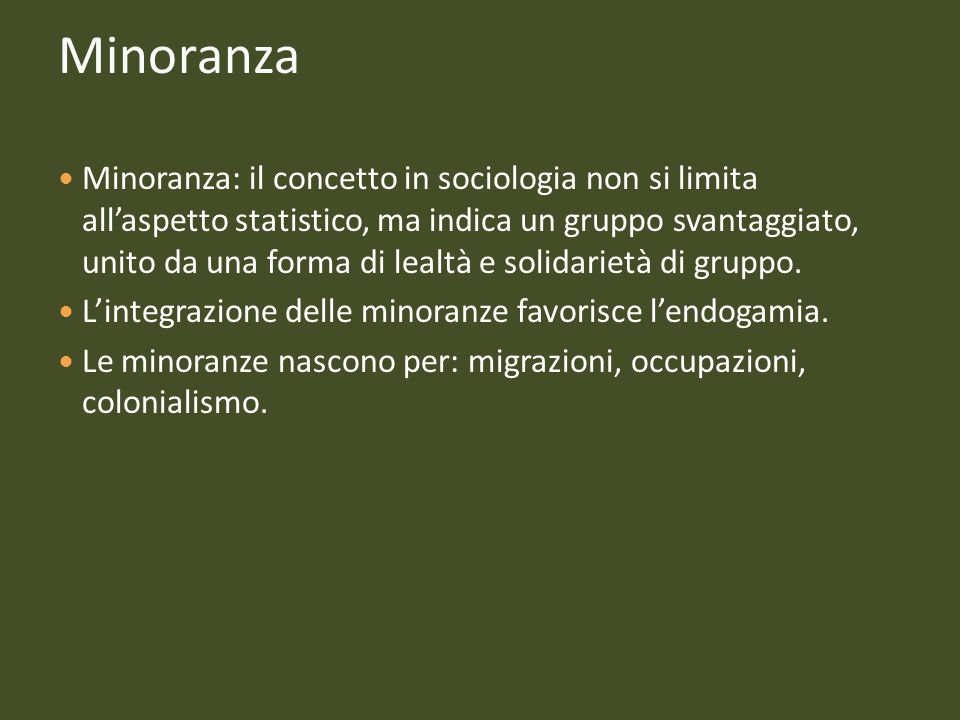 Minoranza