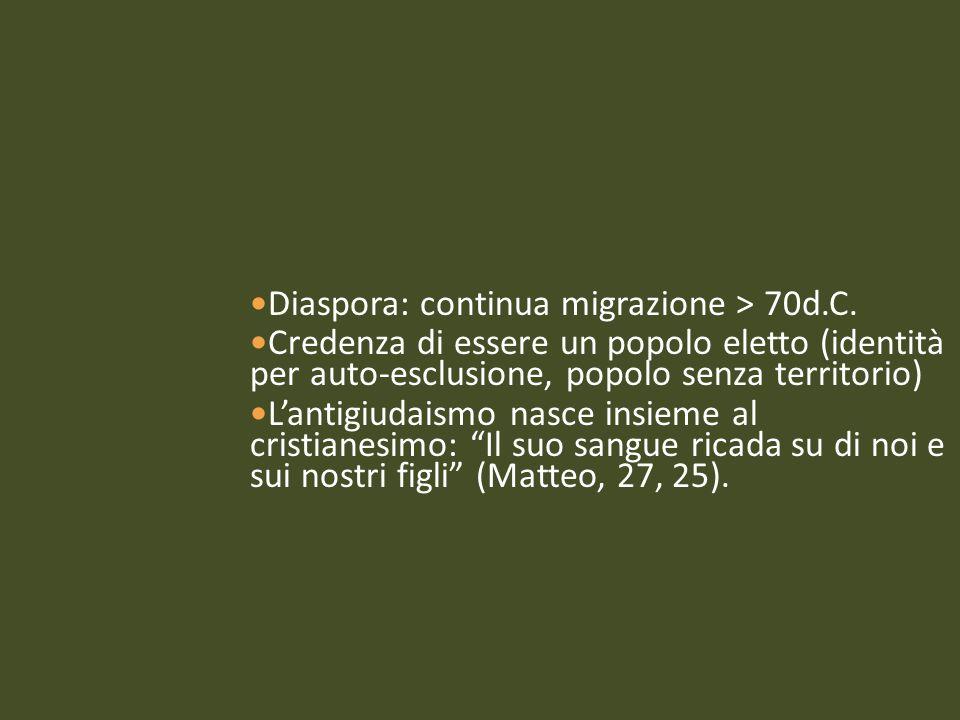 Diaspora: continua migrazione > 70d.C.