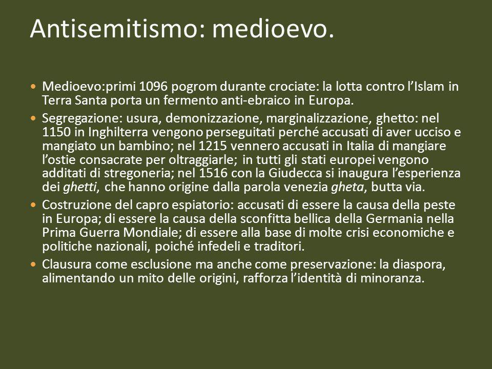 Antisemitismo: medioevo.
