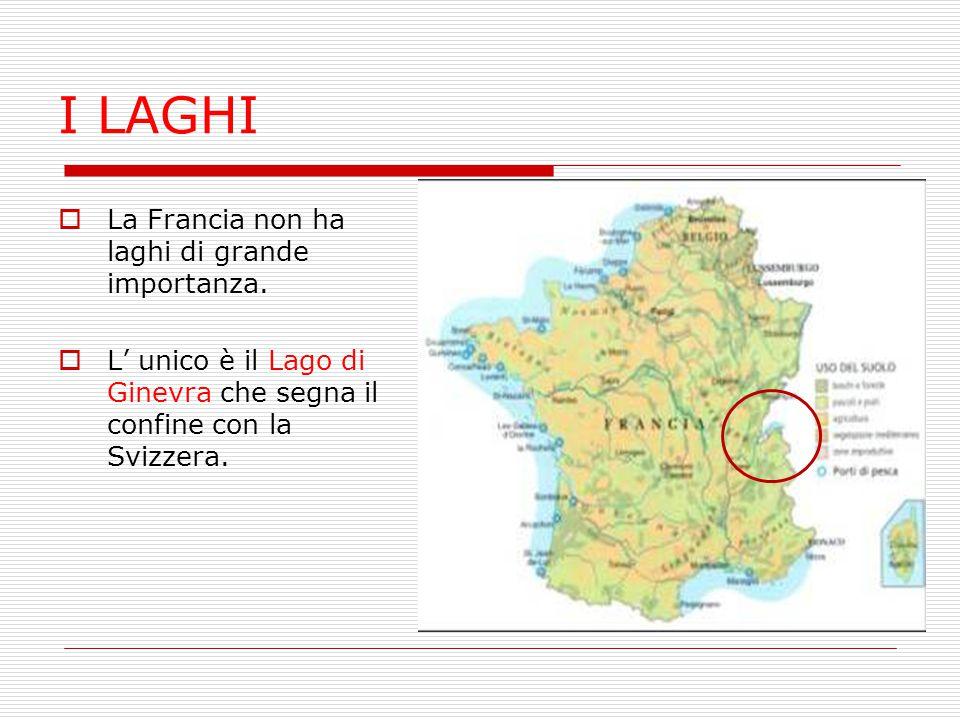 I LAGHI La Francia non ha laghi di grande importanza.