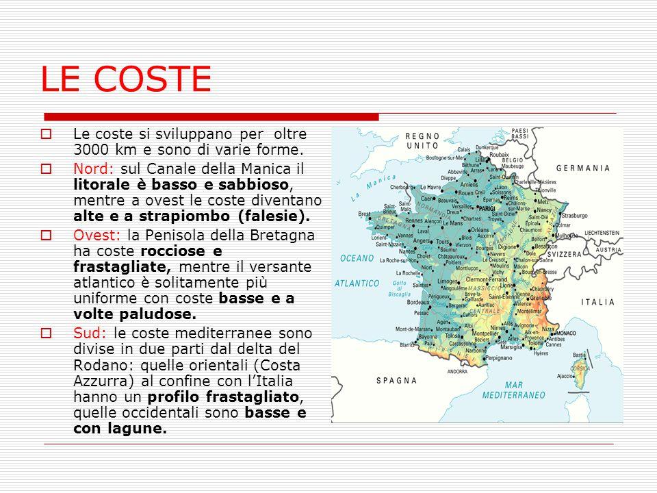 LE COSTE Le coste si sviluppano per oltre 3000 km e sono di varie forme.