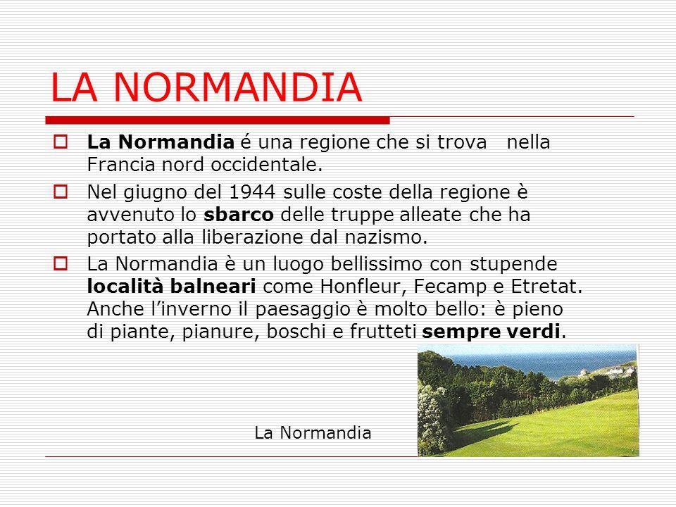 LA NORMANDIA La Normandia é una regione che si trova nella Francia nord occidentale.