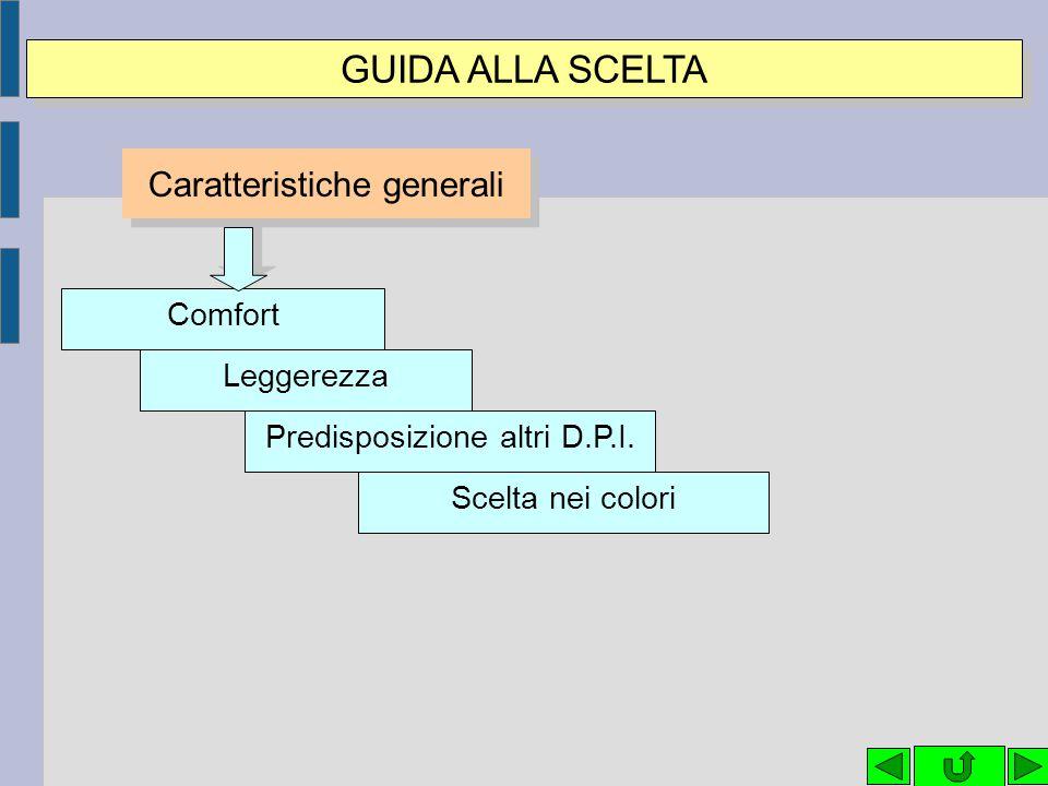 GUIDA ALLA SCELTA Caratteristiche generali Comfort Leggerezza