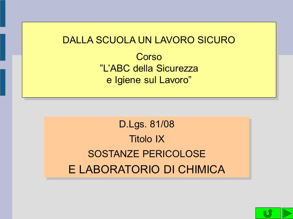 E LABORATORIO DI CHIMICA