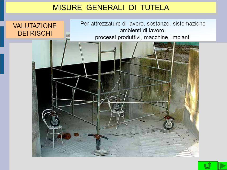 MISURE GENERALI DI TUTELA