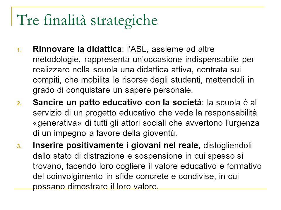Tre finalità strategiche