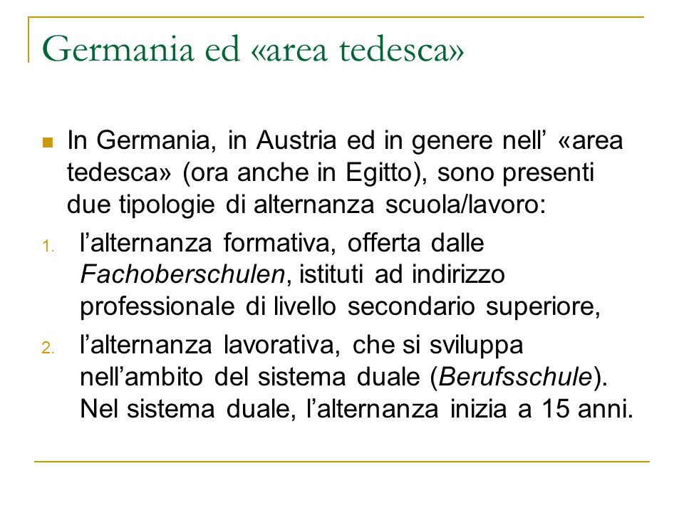 Germania ed «area tedesca»