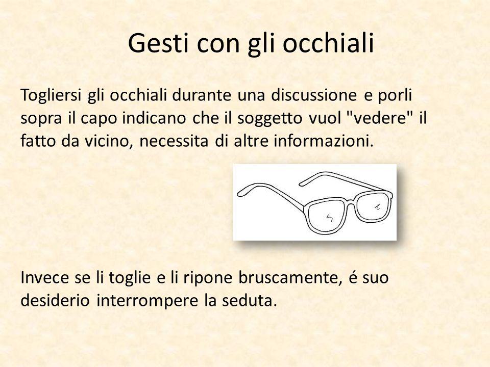 Gesti con gli occhiali