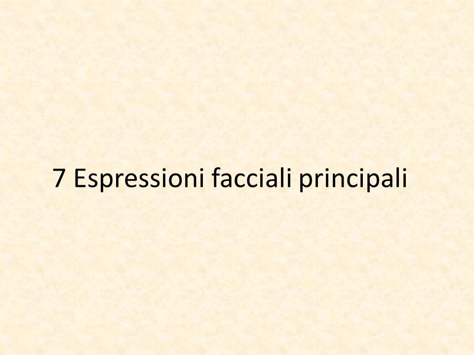 7 Espressioni facciali principali