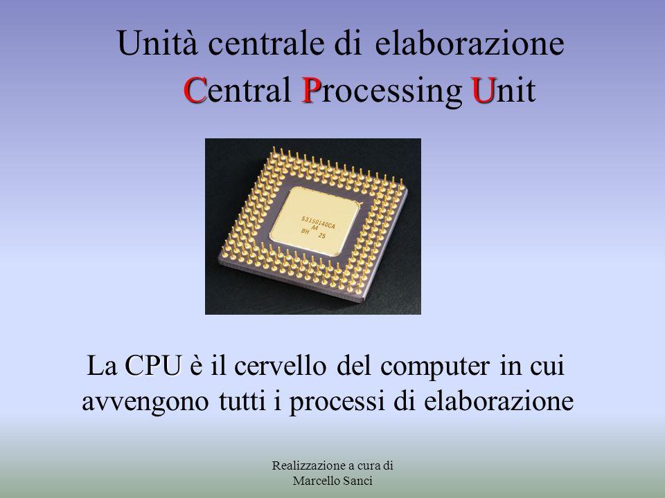 Unità centrale di elaborazione Central Processing Unit