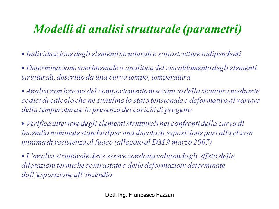 Modelli di analisi strutturale (parametri)