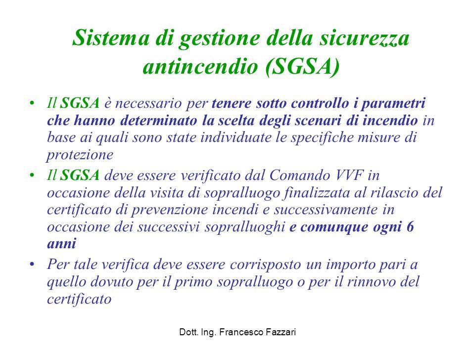 Sistema di gestione della sicurezza antincendio (SGSA)