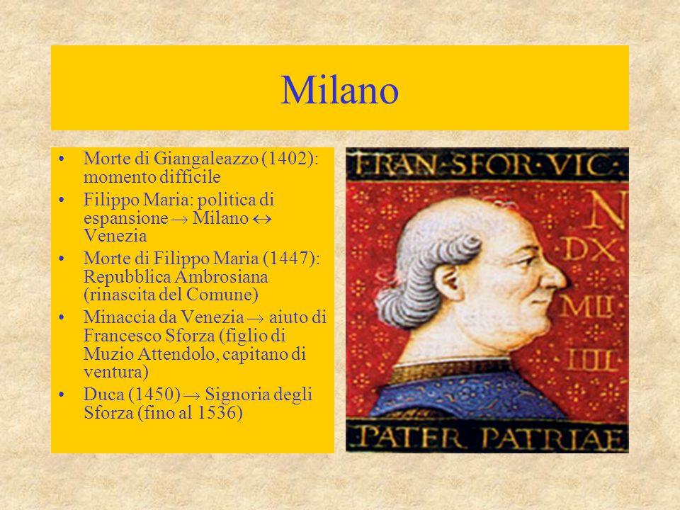 Milano Morte di Giangaleazzo (1402): momento difficile