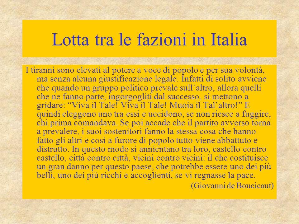 Lotta tra le fazioni in Italia