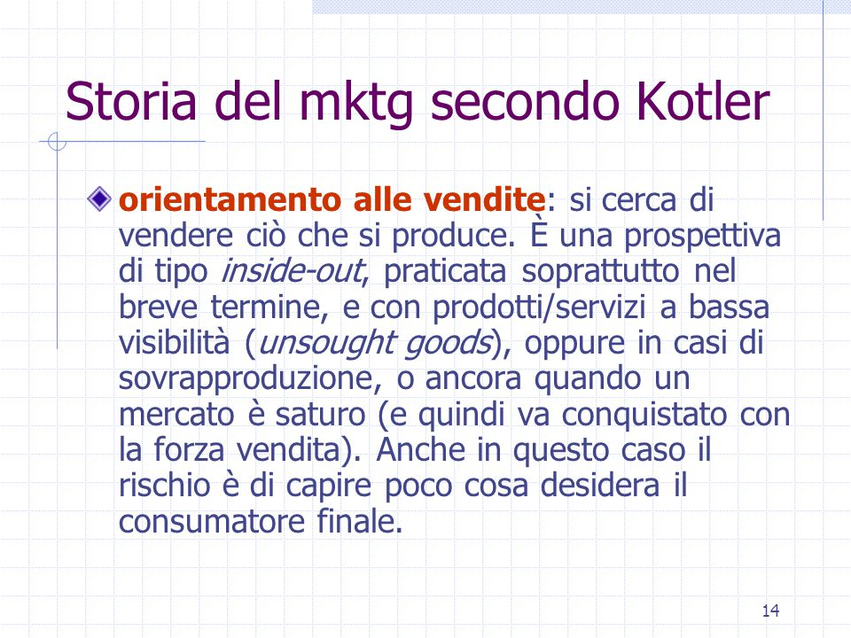 Storia del mktg secondo Kotler