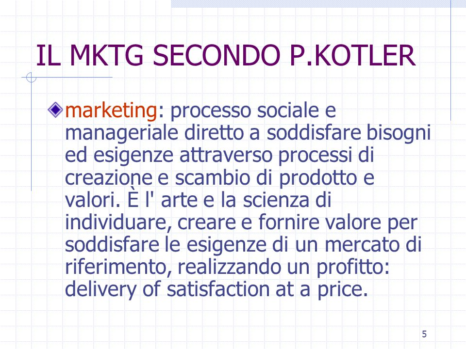 IL MKTG SECONDO P.KOTLER
