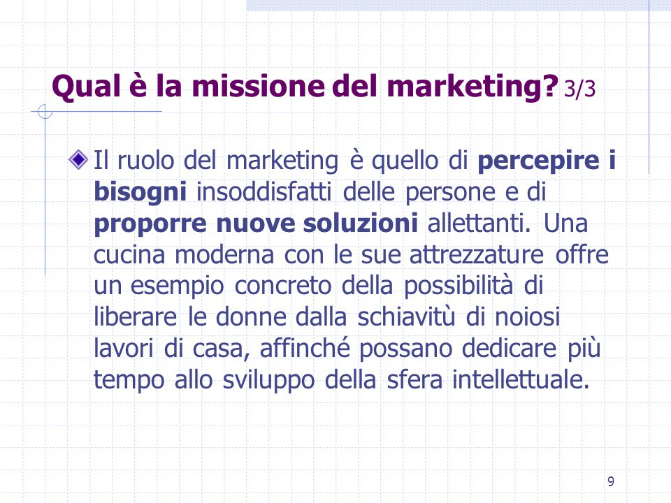Qual è la missione del marketing 3/3