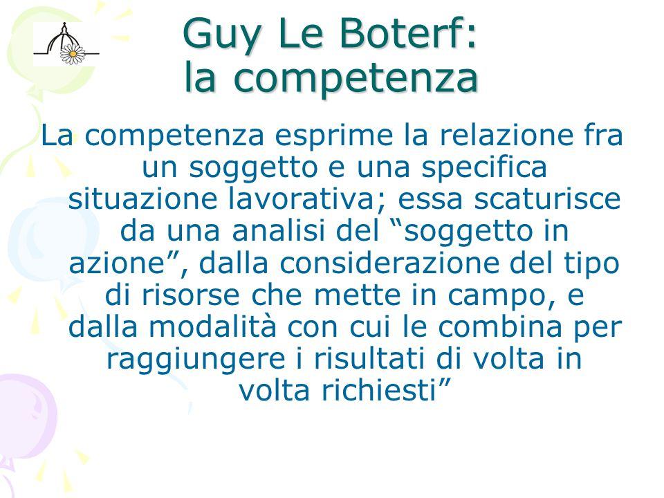 Guy Le Boterf: la competenza