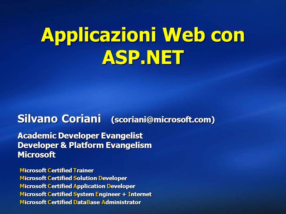 Applicazioni Web con ASP.NET