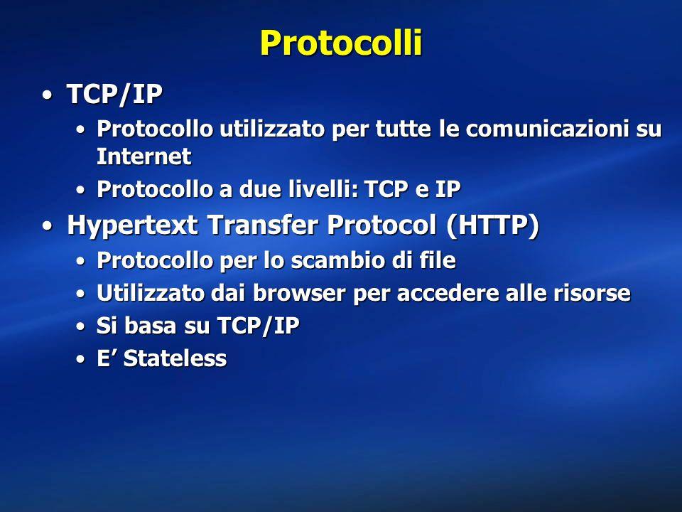 Protocolli TCP/IP Hypertext Transfer Protocol (HTTP)