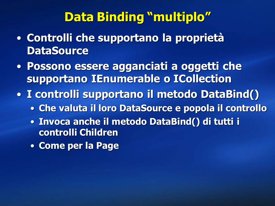 Data Binding multiplo