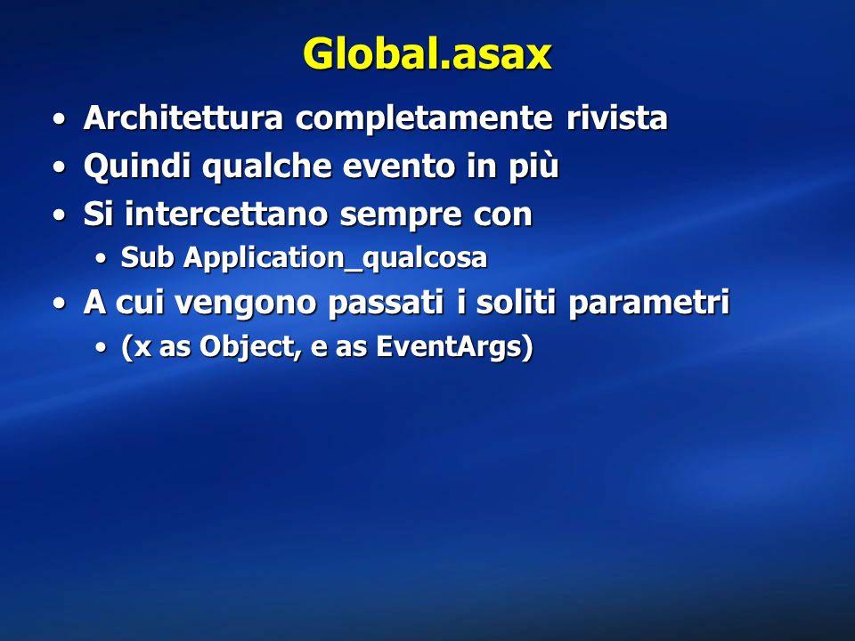 Global.asax Architettura completamente rivista
