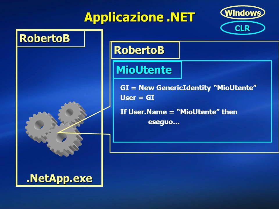 Applicazione .NET RobertoB RobertoB MioUtente .NetApp.exe Windows CLR
