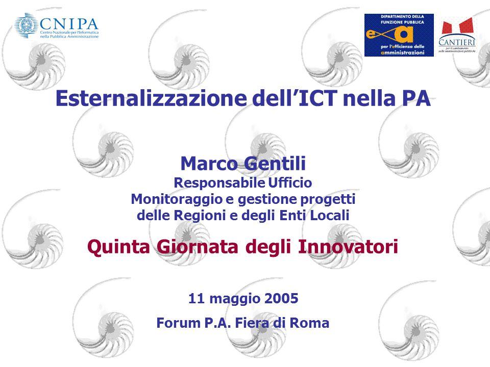 Esternalizzazione dell'ICT nella PA