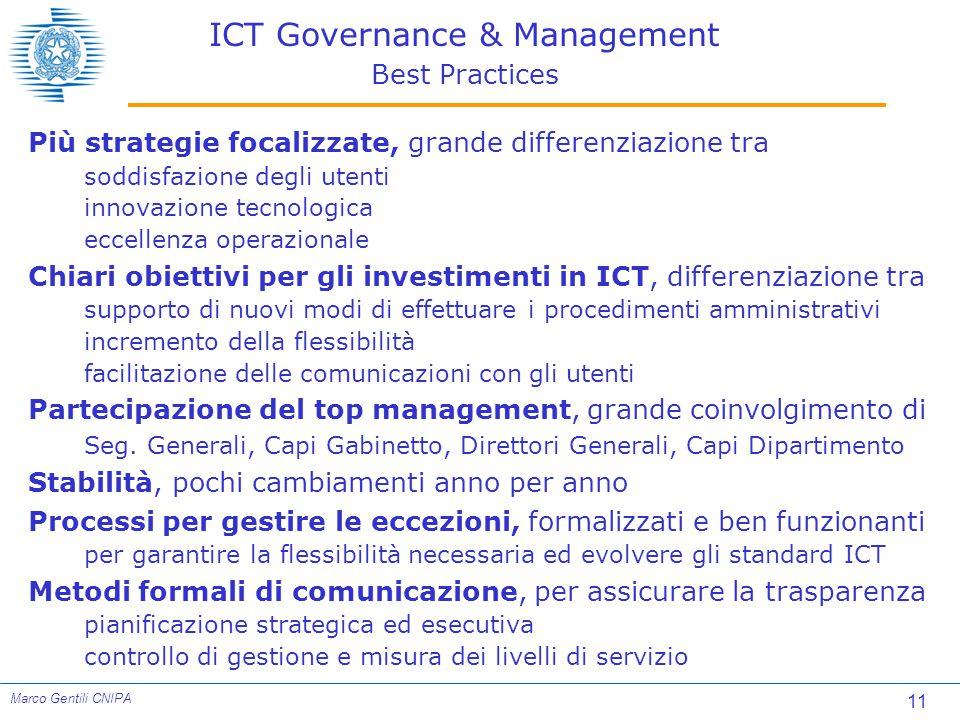 ICT Governance & Management Best Practices
