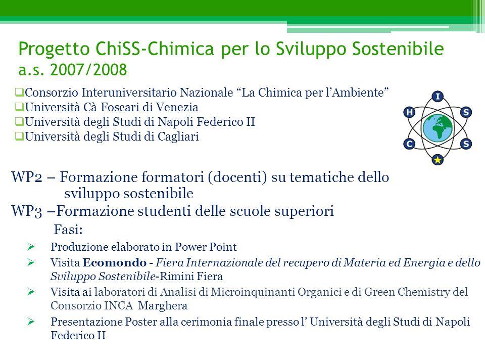 Progetto ChiSS-Chimica per lo Sviluppo Sostenibile a.s. 2007/2008