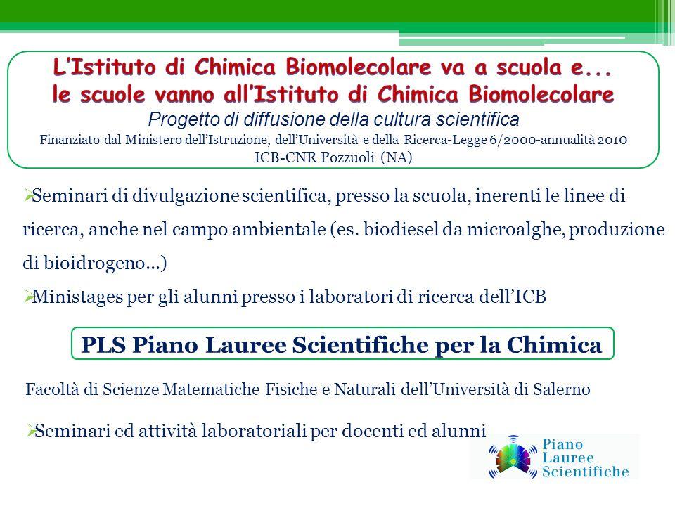 L'Istituto di Chimica Biomolecolare va a scuola e...