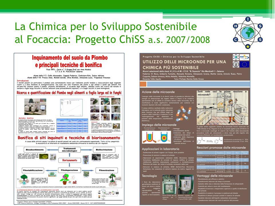 La Chimica per lo Sviluppo Sostenibile al Focaccia: Progetto ChiSS a.s. 2007/2008