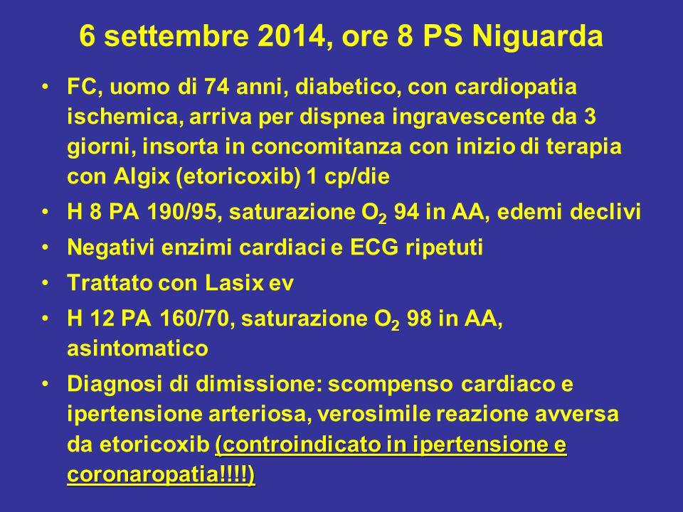 6 settembre 2014, ore 8 PS Niguarda