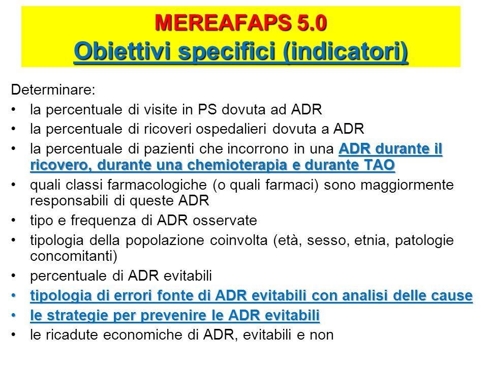 MEREAFAPS 5.0 Obiettivi specifici (indicatori)