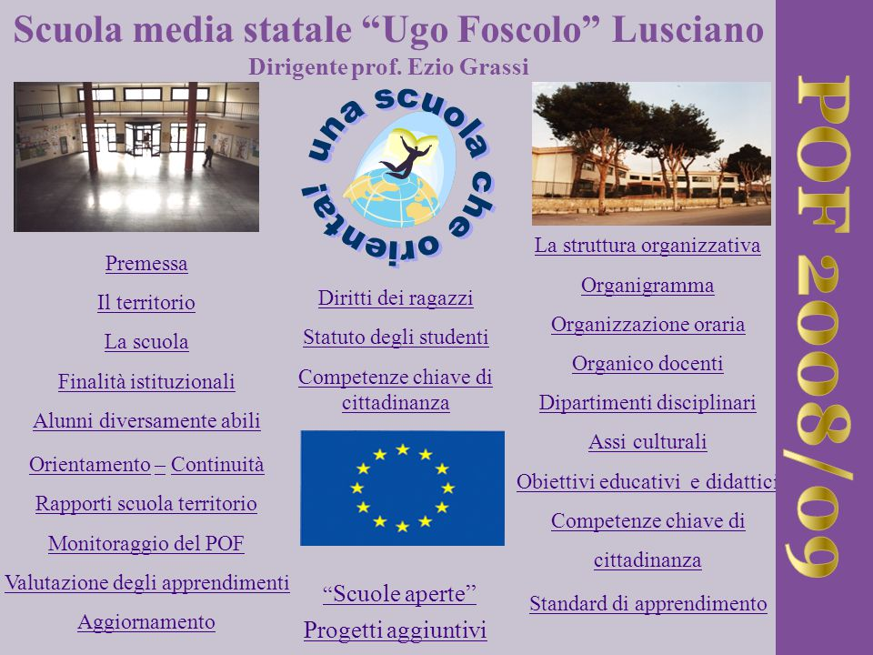POF 2008/09 Scuola media statale Ugo Foscolo Lusciano
