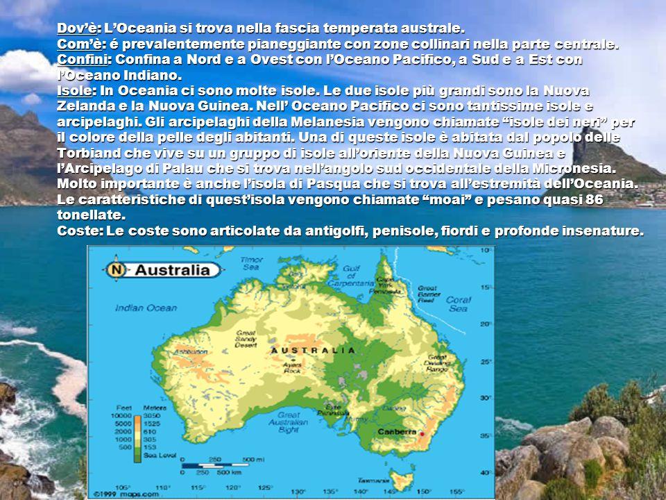 Dov'è: L'Oceania si trova nella fascia temperata australe