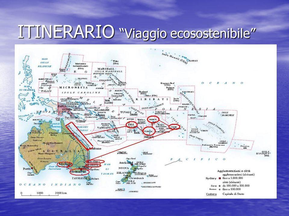 ITINERARIO Viaggio ecosostenibile