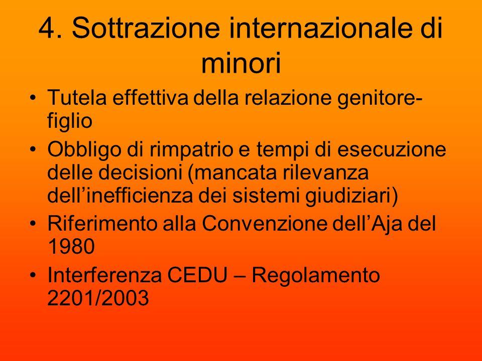 4. Sottrazione internazionale di minori