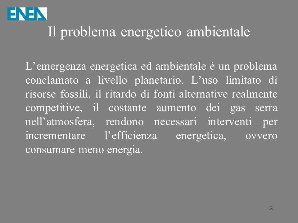 Il problema energetico ambientale