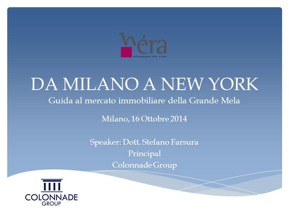 DA MILANO A NEW YORK Guida al mercato immobiliare della Grande Mela