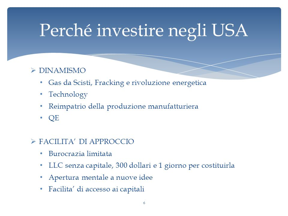 Perché investire negli USA