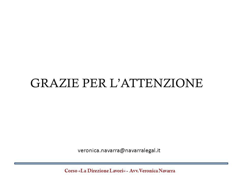 Corso «La Direzione Lavori» - Avv.Veronica Navarra