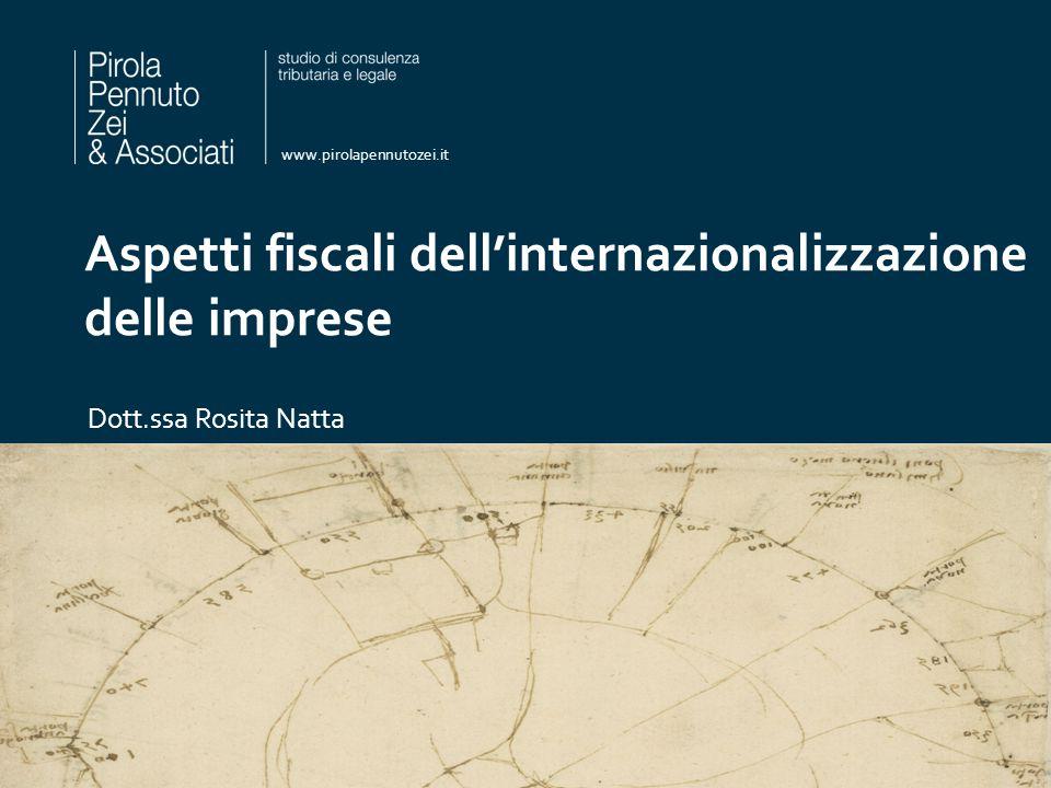 Aspetti fiscali dell'internazionalizzazione delle imprese