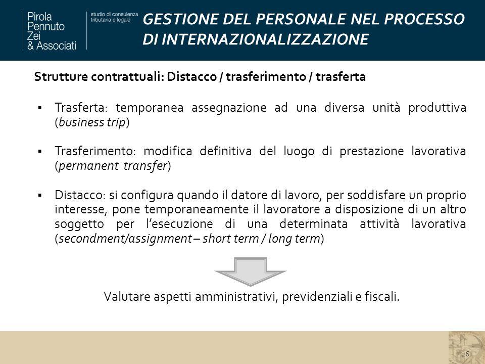GESTIONE DEL PERSONALE NEL PROCESSO DI INTERNAZIONALIZZAZIONE