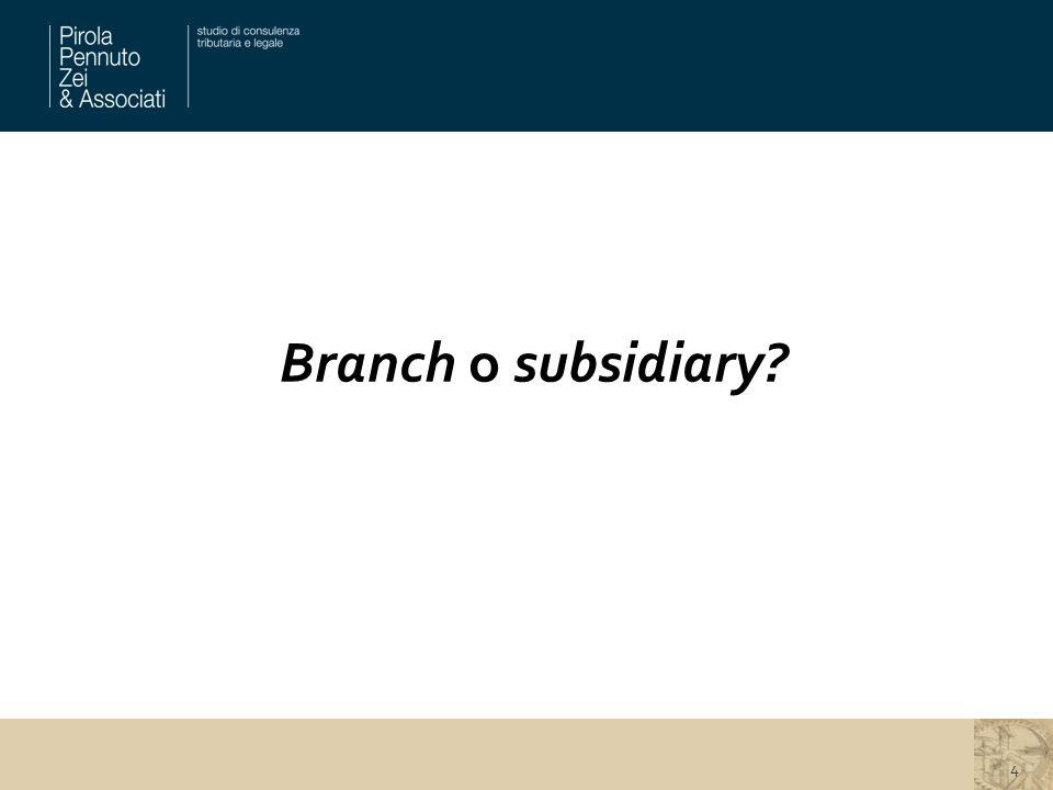 Branch o subsidiary