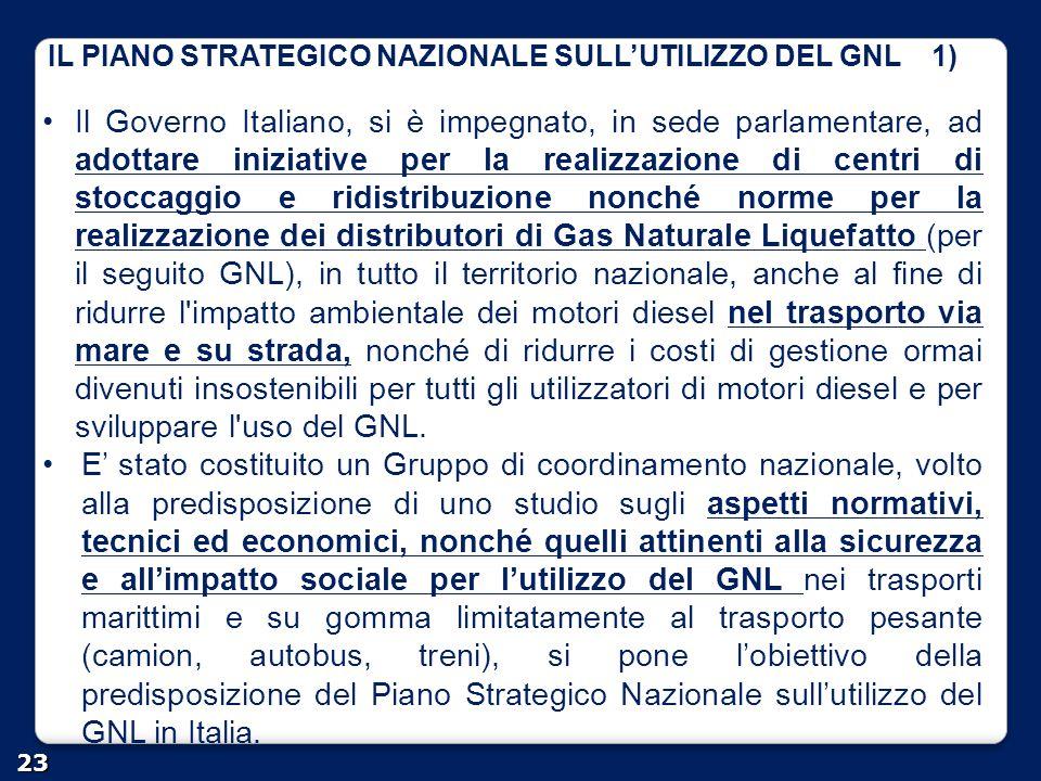 IL PIANO STRATEGICO NAZIONALE SULL'UTILIZZO DEL GNL 1)
