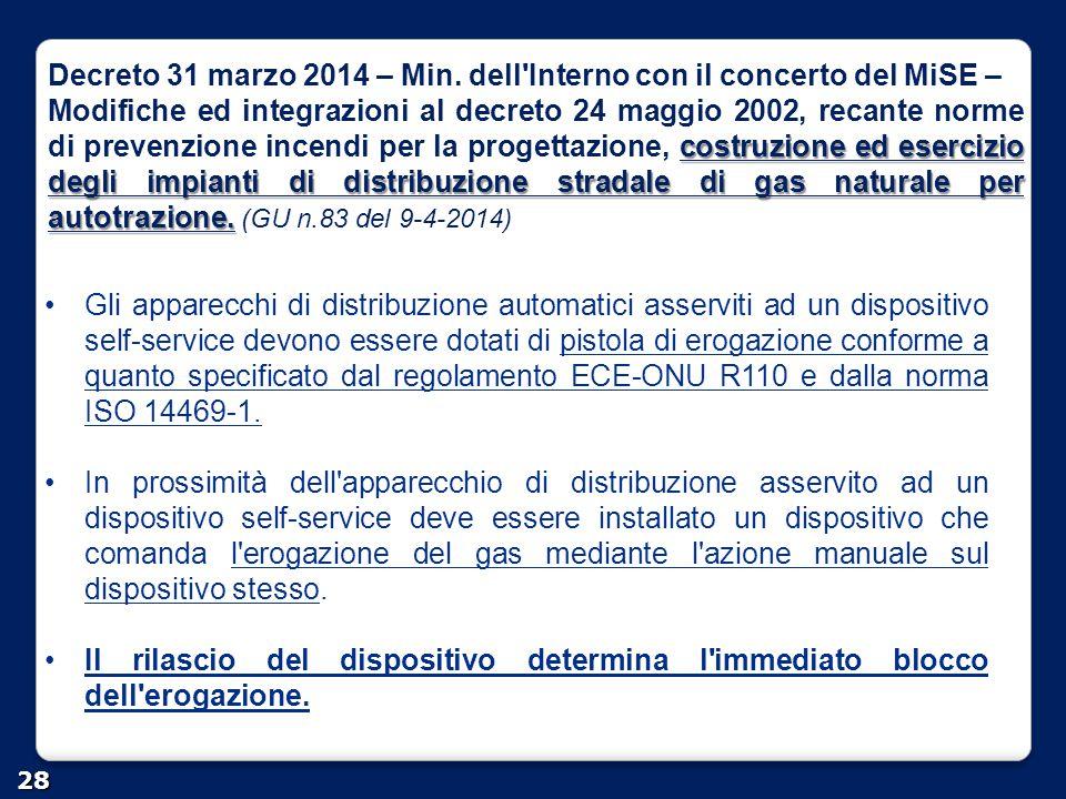 Decreto 31 marzo 2014 – Min. dell Interno con il concerto del MiSE –